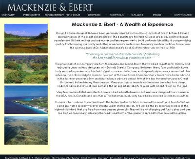 Mackenzie and Ebert website