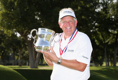 Colin Montgomerie with U.S. Senior Open Championship Trophy
