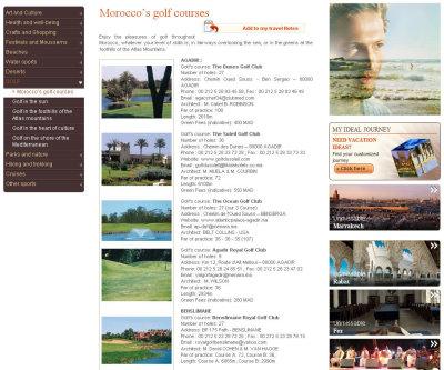 Morocco's Golf courses
