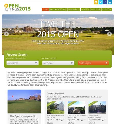 Open 2015 St Andrews Properties to rent