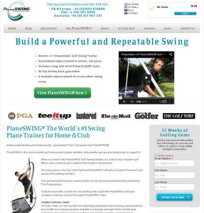 PlaneSwing website