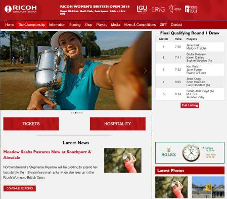 Ricoh British Women's Open 214 website