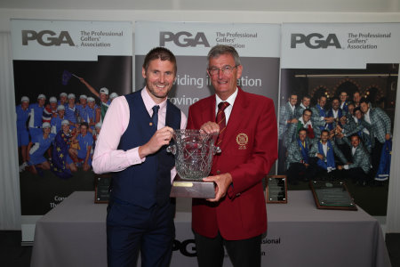 Kevin Carpenter with PGA captain Neil Selwyn-Smith