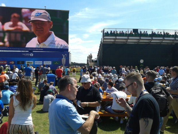 Hoylake crowds 2014 (The 2006 championship at Hoylake still holds the record for the highest attended English Open ever, with 230,000 people attending over the week.)
