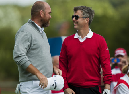 Thomas Bjorn and HRH Crown Prince Frederik of Denmark (Getty Images)