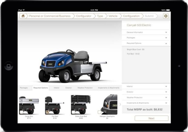 Club Car Sales Toolkit App