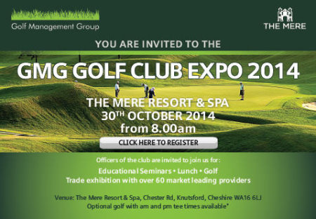 GMG Golf Club Expo Invite