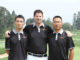 Jason Hoyles with Chinese instructors Toby Zhang and Yang Yong at the new Golf Academy China.