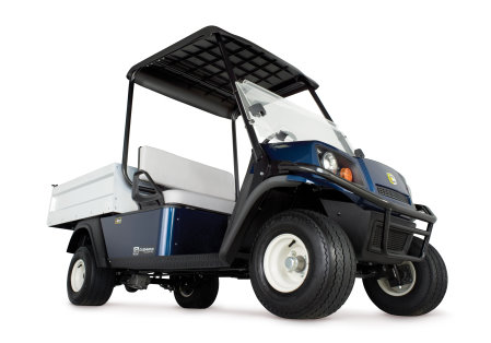 The all-electric Cushman Hauler PRO and PRO X, features a 72-volt AC drivetrain with a range of 50 miles
