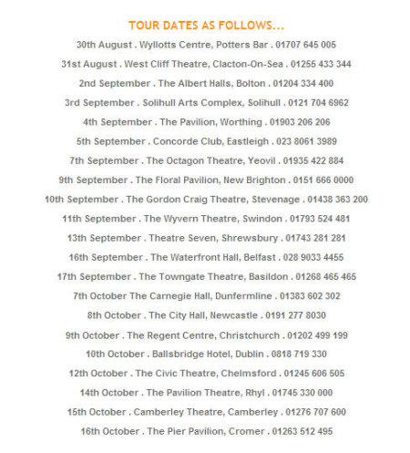 Jacklin Theatre Tour Dates