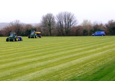 Sand banding is a valuable secondary drainage operation that will help ensure rainwater is able to percolate downwards through sports turf for removal by underlying piped drainage systems