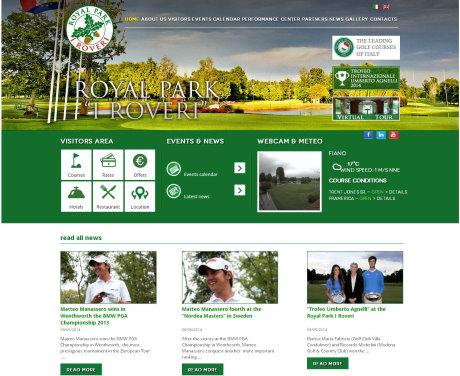 Royal Park I Roveri website