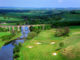 The signature hole at The Roxburghe Golf Club is the 14th, known as 'The Viaduct'