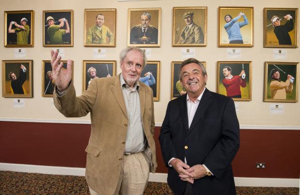 Artist Joe Austen with Tony Jacklin