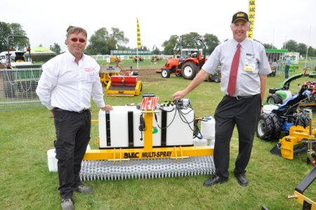 BLEC Multi-Spray launch at SALTEX 2014 with designers Barry Pace (left) and BLEC md Gary Mumby