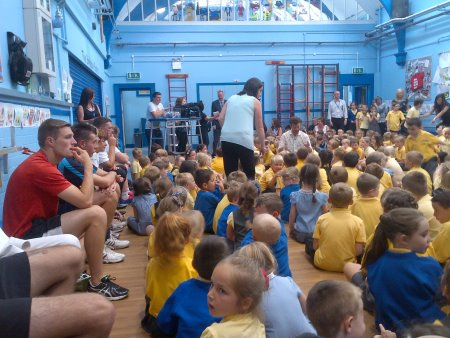 A full audience for the Blue Peter day at Birkdale Primary School