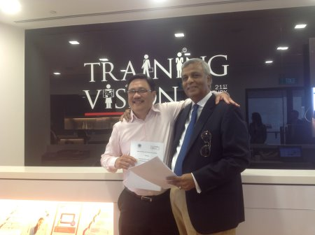 David Kwee, Training Vision's chief executive officer(left) with Mike Sebastian, president of CMAA-Asia