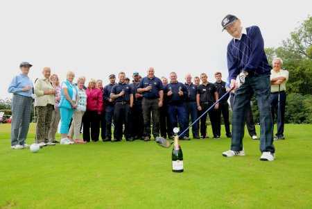 Champagne moment Bill Allchurch tees off the new Ramside Cathedral Course