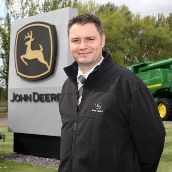 Chris Wiltshire, the new branch tactical marketing manager at John Deere Limited, from 1st October