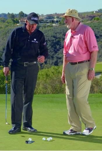 Dave Pelz with Phil Mickleson