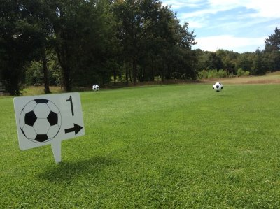 Footgolf Sign and teemarker