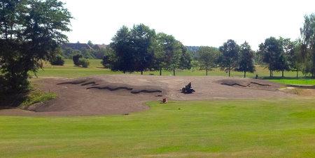 Fureso Golf Club preparation for seeding Green #9
