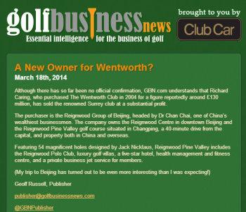 GBN Newsletter re Wentworth