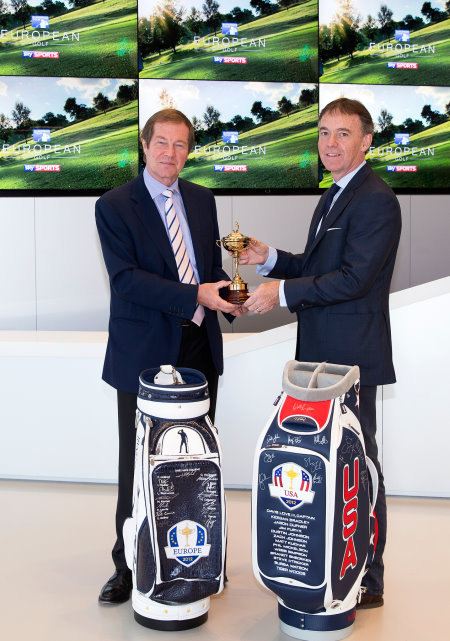 George O'Grady, Chief Executive of The European Tour, and Jeremy Darroch, BSkyB Chief Executive