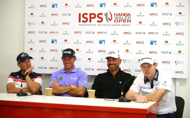 From left: Jamie Donaldson, Lee Westwood, Thomas Bjorn and Stephen Gallacher (Getty Images)