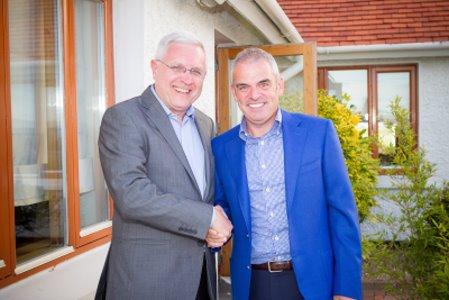 John Collard with Paul McGinley