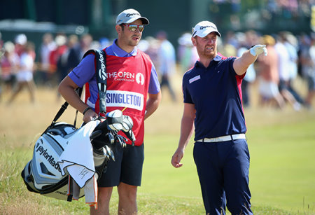 John Singleton at The  Open Championship at Royal Liverpool Golf Club
