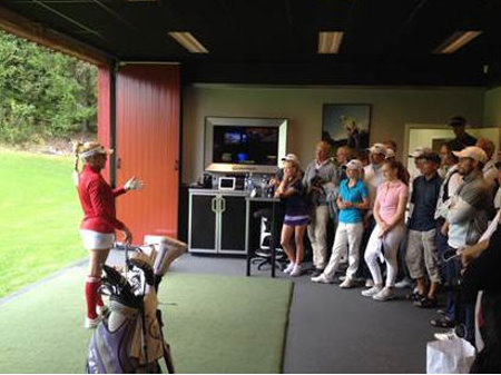 Natalie Gulbis at Losby Golf Club in Norway