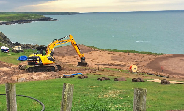 Nefyn_Golf Club: reconstruction of 'The Point'