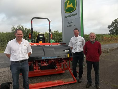(l-r),Frank Sutton's Ben Sutton, Gareth Beck and Rob Hoskins at the Raglan site.