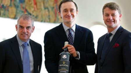 Paul McGinley, M. Julien de Beaumarchais and Hugues Lechanoine