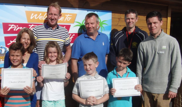 Junior golfers take part in the free coaching made available to them by the Junior Scholarship programme at Ramsdale Park Golf Centre, which has achieved GEO Certified®