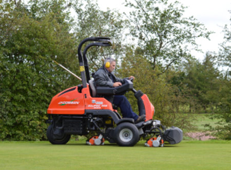 One of Ramside Hall's CPO Eclipse mowers in action