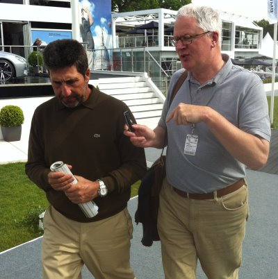 Ross Biddiscombe interviewing Jose Maria Olazabal (courtesy Ross Biddiscombe)