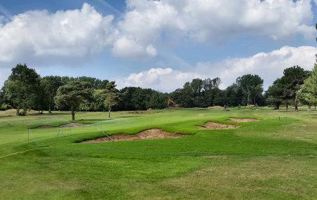 New diagonal bunker feature on Royal Blackheath's 2nd hole (photo: Ken Moodie / Creative Golf Design)