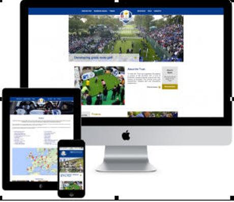 Ryder Cup Dev Trust website