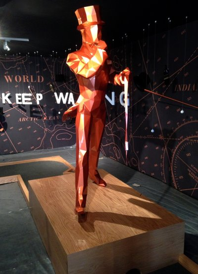The iconic JOHNNIE WALKER 'Striding Man' is a feature of the JOHNNIE WALKER Mini Golf Course, situated inside the JOHNNIE WALKER EXPERIENCE, Gleneagles, at this year's Ryder Cup
