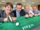 (from left) Arlene Foster, Minister for NI (Department of Enterprise Trade and Investment; Mike McCarley, President of the Golf Channel; Rory Smith – VP of Technology; Brian Smith – VP of Sales