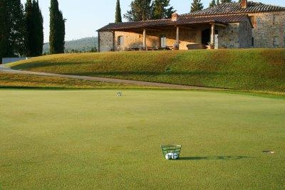 Castiglion del Bosco Golf Club Putting Green by Club house