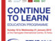 Continue toLearn brochure cover