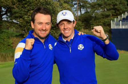 Graeme McDowell and Rory McIlroy in Glenmuir release Getty images.jpg