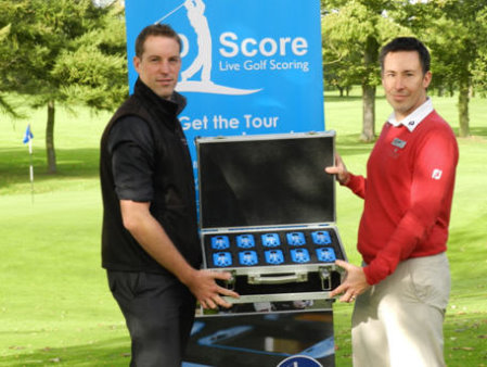 Sam Phillips (left), Director of Golf Days UK, with Brad McLean Director of Golf at Marriott Sprowston Manor