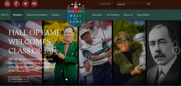 Hall of Fame webpage