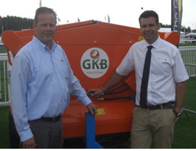 Jeremy Vincent of The Grass Group (right) pictured with Jan-Willem Kraaijeveld, Sales Manager at GKB Machines