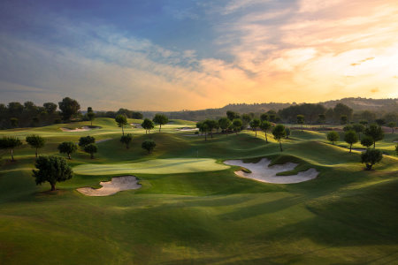 The stunning 16th and 17th holes at Las Colinas Golf & Country Club