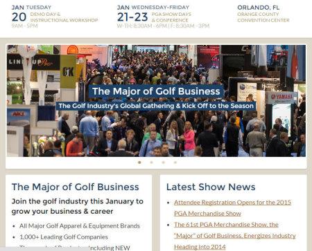 PGA Merchandise Show website